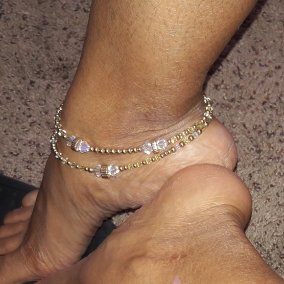 stamped bracelet engraved personalized initial anklet ankle infinity dp com birthstone amazon custom